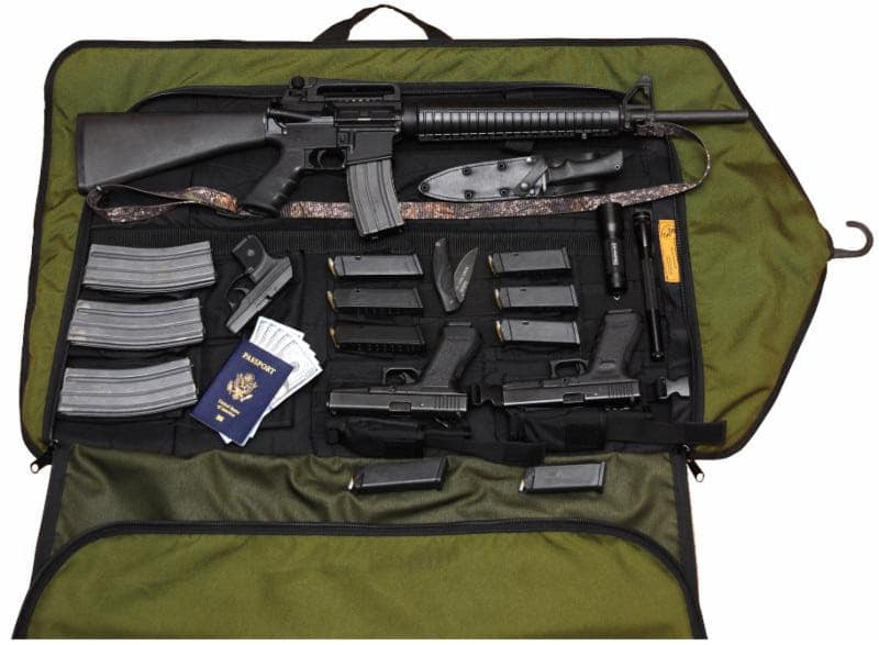 hide your guns in a garment bag gat daily guns ammo tactical. Black Bedroom Furniture Sets. Home Design Ideas