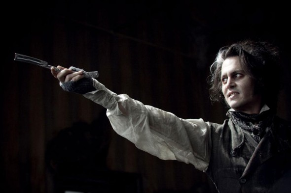 The only way to make Johnny Depp scary is to give him a straight razor
