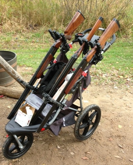 Diy Gun Carts Tactical Stroller Meets Gun Golf Caddy